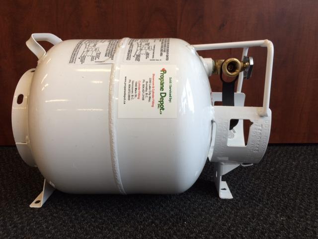 20lb vapor horizontal propane cylinder