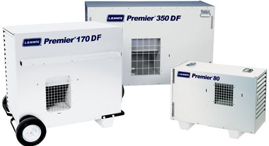 l.b. white premier series 80 170 350 construction heaters