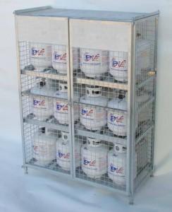 Propane Storage Cage 20lbs, 30lbs, 33lbs, 40lbs, 43lbs cylinders