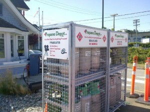 Cage for rent on-site deliveries