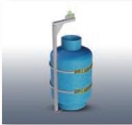 bulk propane tank lifting device, capacity 800 lbs