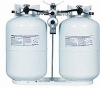 Twin propane tanks for RV